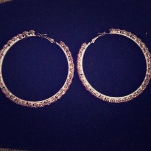 Large round earrings